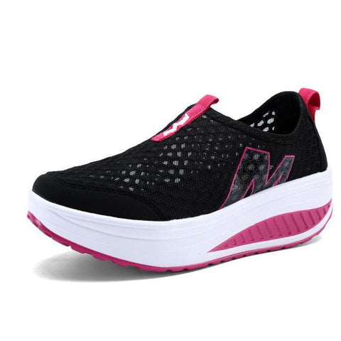 Women's Casual Height Increasing Breathable Sports Shoe Women's Vulcanize Shoes Black / 4 Hosteven Official Store