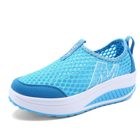 Women's Casual Height Increasing Breathable Sports Shoe Women's Vulcanize Shoes Blue / 4 Hosteven Official Store