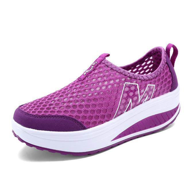 Women's Casual Height Increasing Breathable Sports Shoe Women's Vulcanize Shoes Purple / 4 Hosteven Official Store