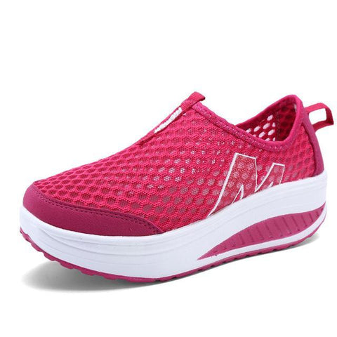 Image of Women's Casual Height Increasing Breathable Sports Shoe Women's Vulcanize Shoes Red / 4 Hosteven Official Store