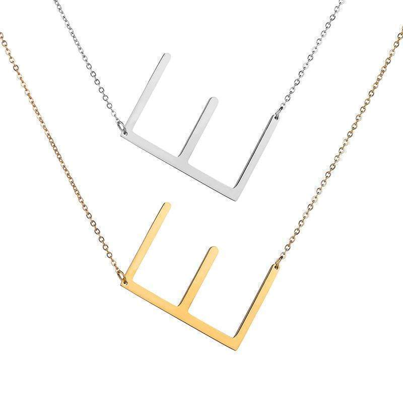 ZIIME 2019 Gold Color Initial Letter Necklace Choker Women A - Z Shape Classic Alphabet Letter Necklaces Stainless Steel Jewelry Gold-color / A