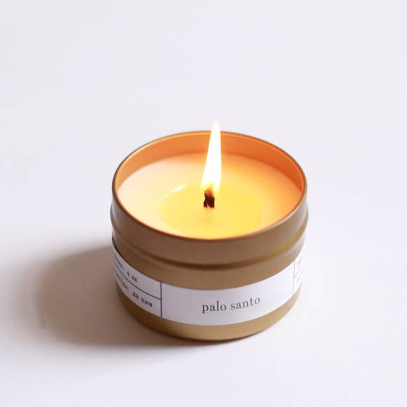 Palo Santo Travel Tin Candle