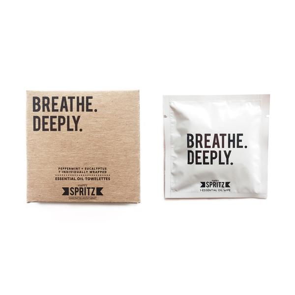 Breathe Deeply Essential Oil Towelettes by Happy Spritz