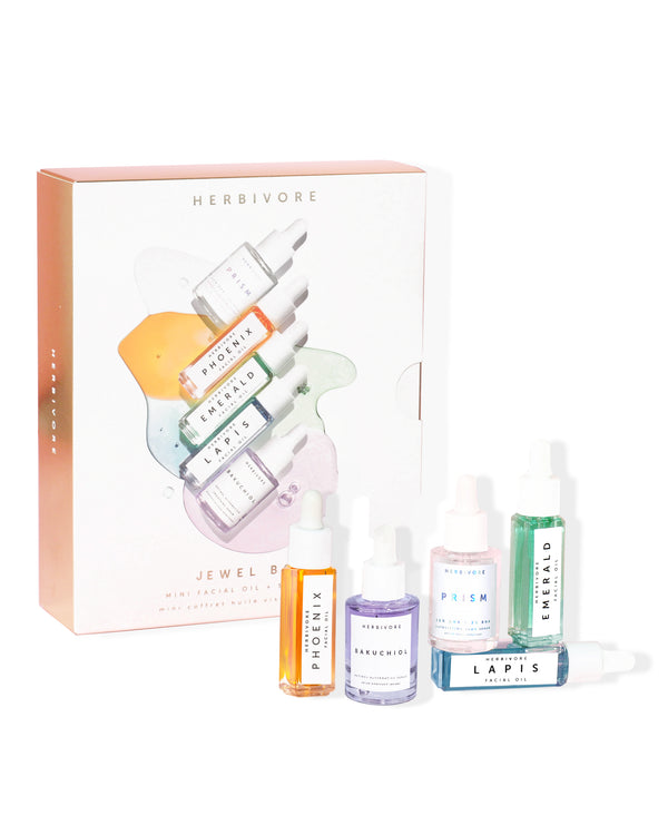 The Jewel Box Mini Oil  + Serum Set by Herbivore Botanicals