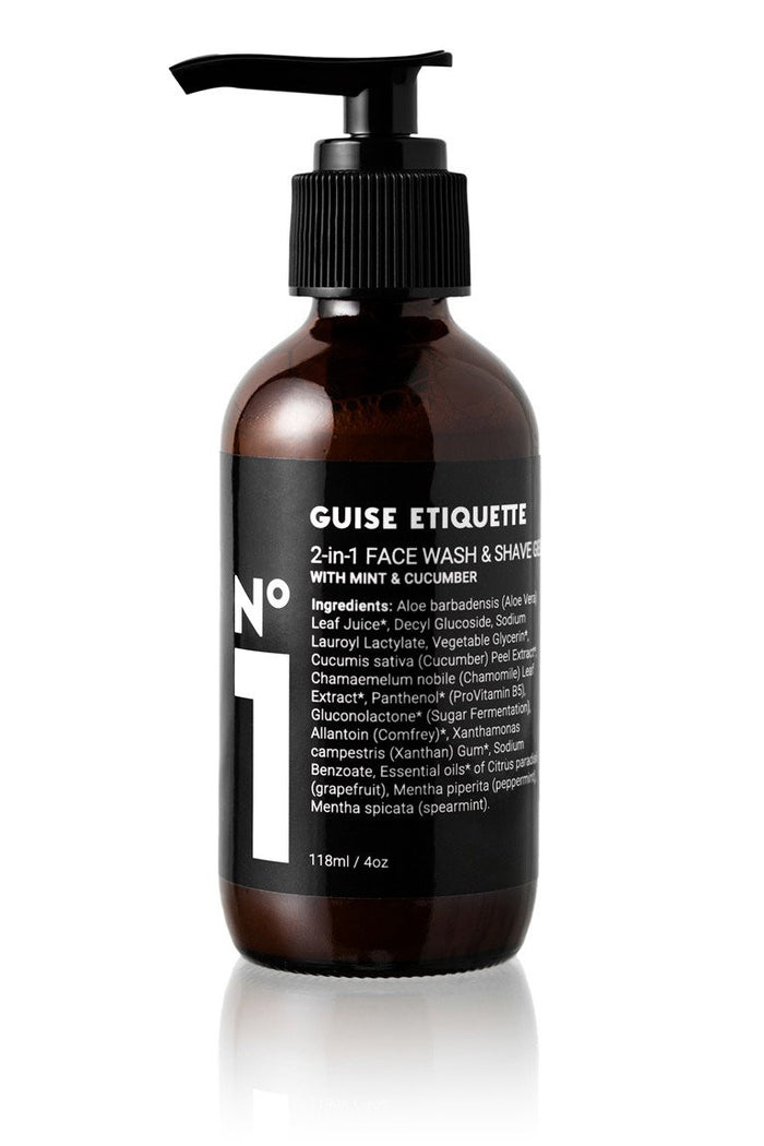 No 1 Facewash & Shave Gel by Guise Etiquette