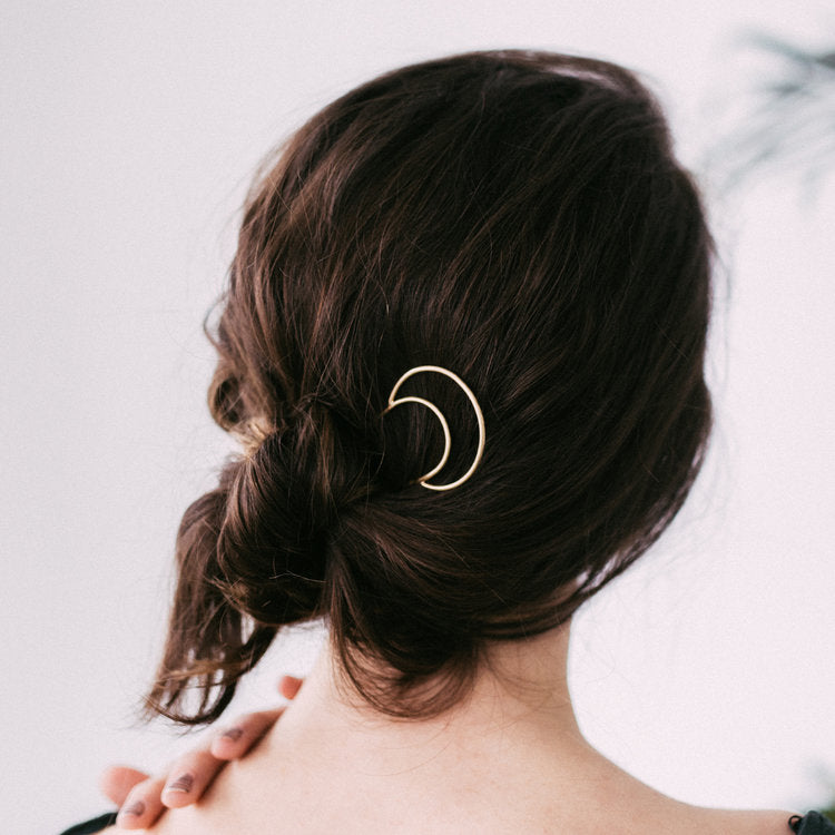 Crescent Hair Pin by Favor Jewelry