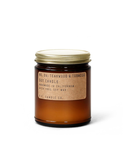 Teakwood & Tobacco Candle by P.F. Candle Co