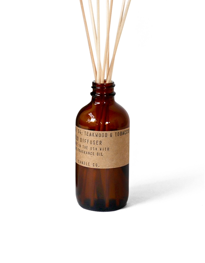 Teakwood & Tobacco Reed Diffuser by P.F. Candle Co.