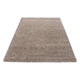 Hochflor Shaggy Teppich in Mocca