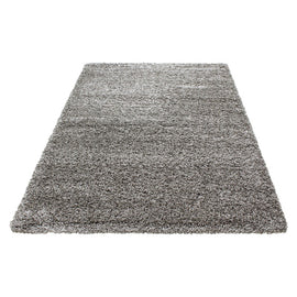 Hochflor Shaggy Teppich in Taupe