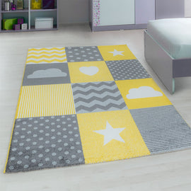 Kinderteppich - Kids - Yellow / Ambiente