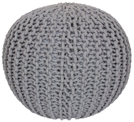 Design Pouf in Grau