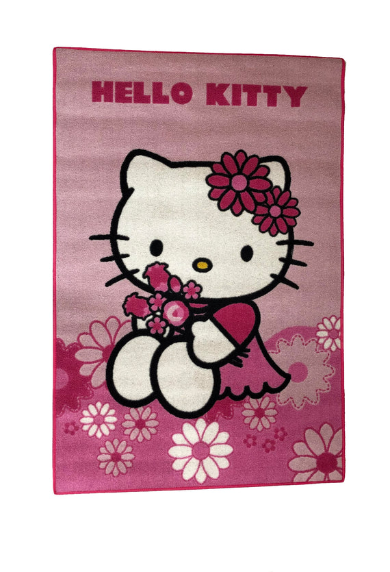 Kinder Teppich - Hello Kitty in Pink