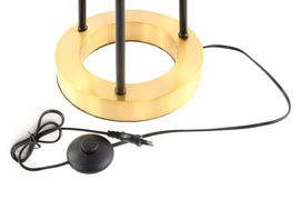Stehlampe Architecta in Schwarz Gold Kabel
