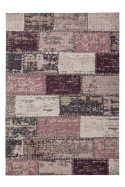 Patchwork Design Teppich in Lila