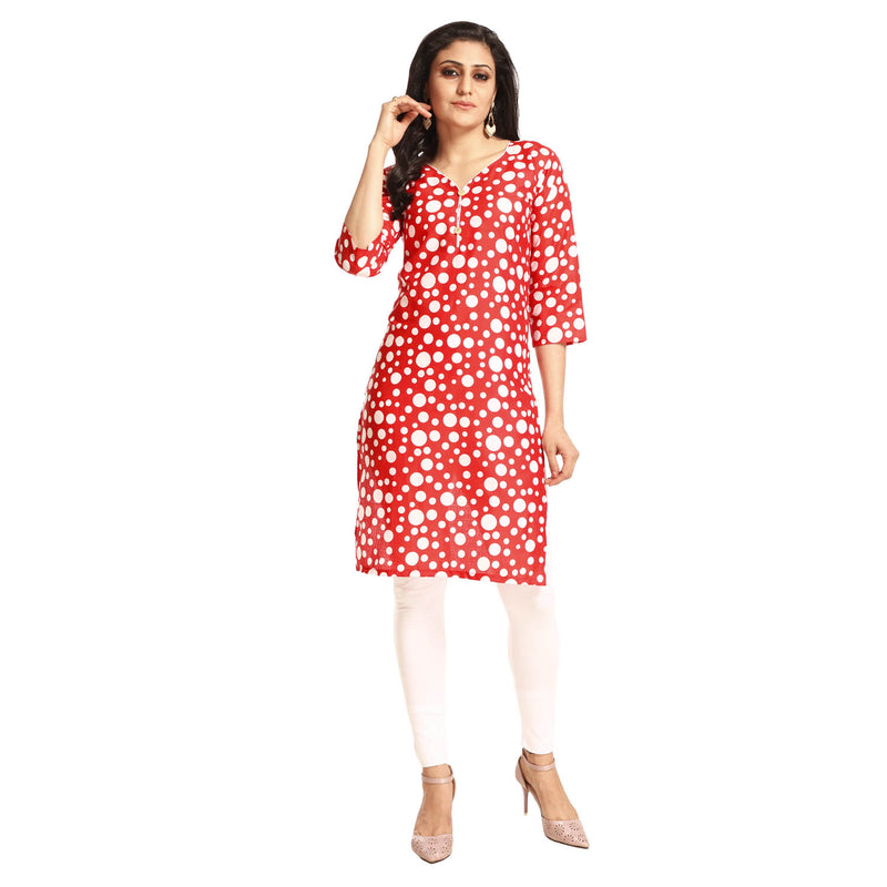 Women's Clothing Red Kurta