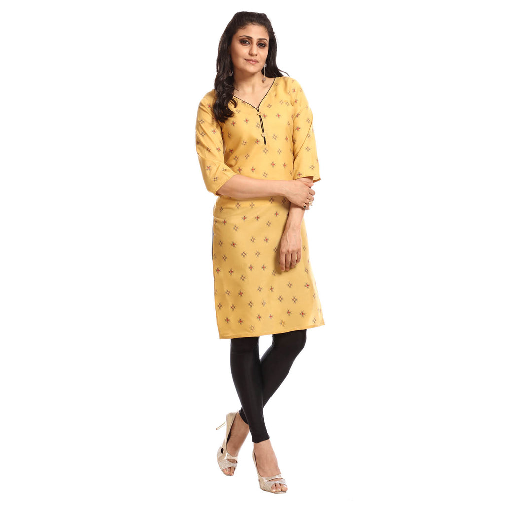 Women's Clothing Yellow Kurta