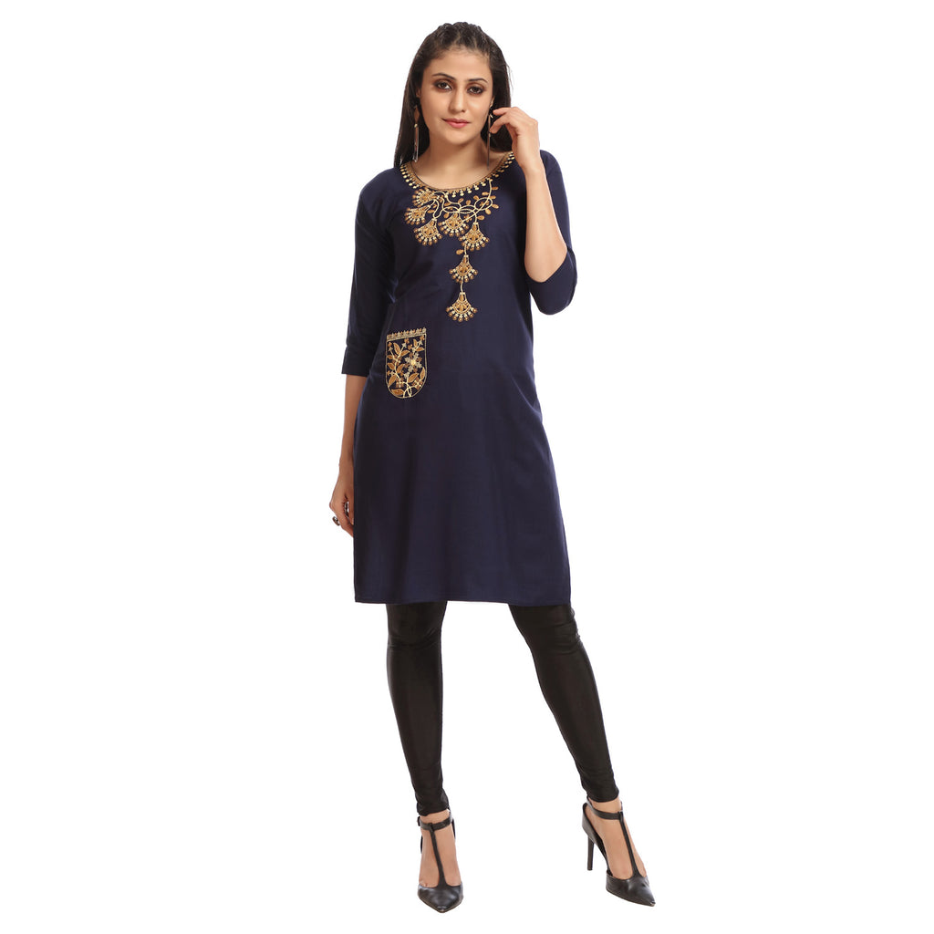 Women's Clothing Navy Kurta
