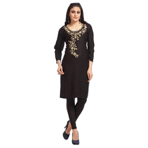 Women's Clothing Black Kurta