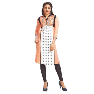 Women's Clothing Peach Kurta