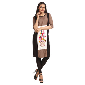 Women's Clothing Brown Kurta