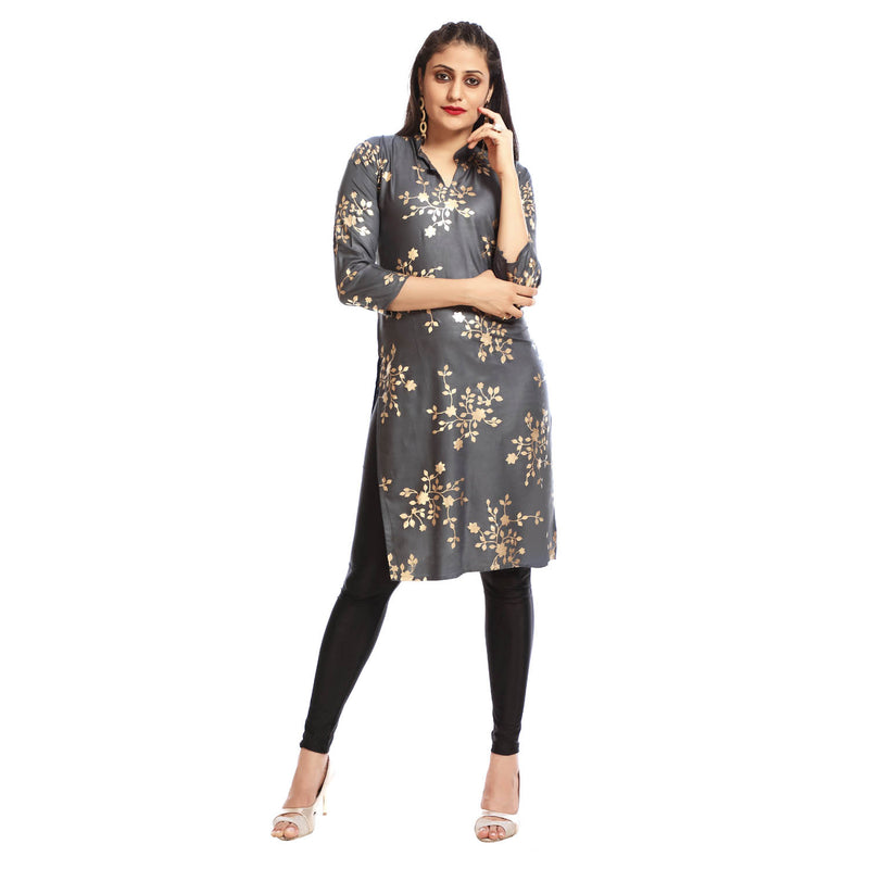Women's Clothing Grey Kurta