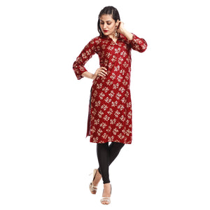 Women's Clothing Maroon Kurta