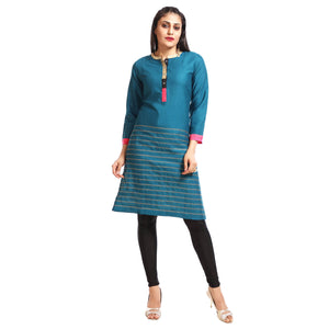 Women's Clothing Green Kurta