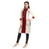 Grishti Women's Multi-colored Casual Printed Kurta