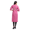 Pink Casual Embroidered Kurta