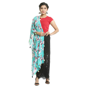 Light Blue Georgette Stole