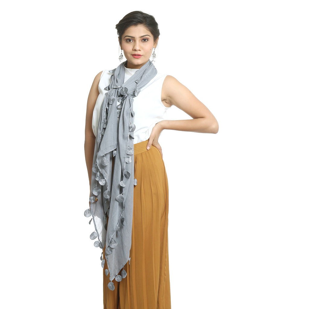 Grey Rayon Stole