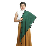 Green Cotton Women's Stole