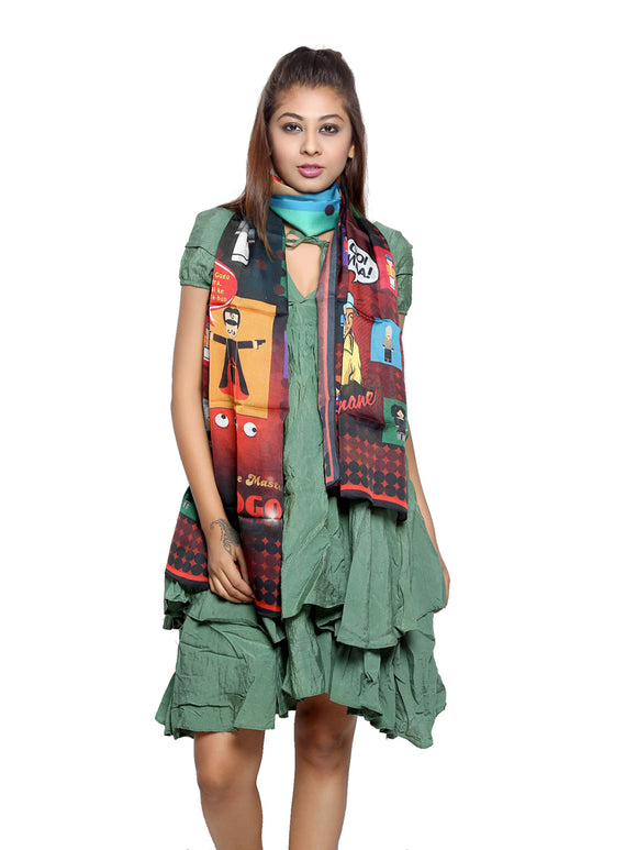 Bollywood Graphic Printed Scarf - Andaz Apna Apna
