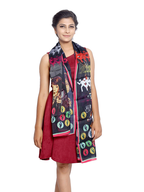 Bollywood Graphic Printed Scarf - Don
