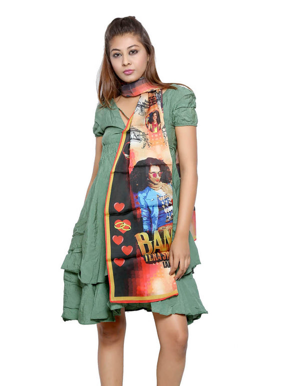 Bollywood Graphic Printed Scarf - Tanu Weds Manu