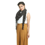 Black Cotton Women's Stole