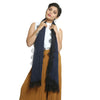 Dark Blue Cotton Stole
