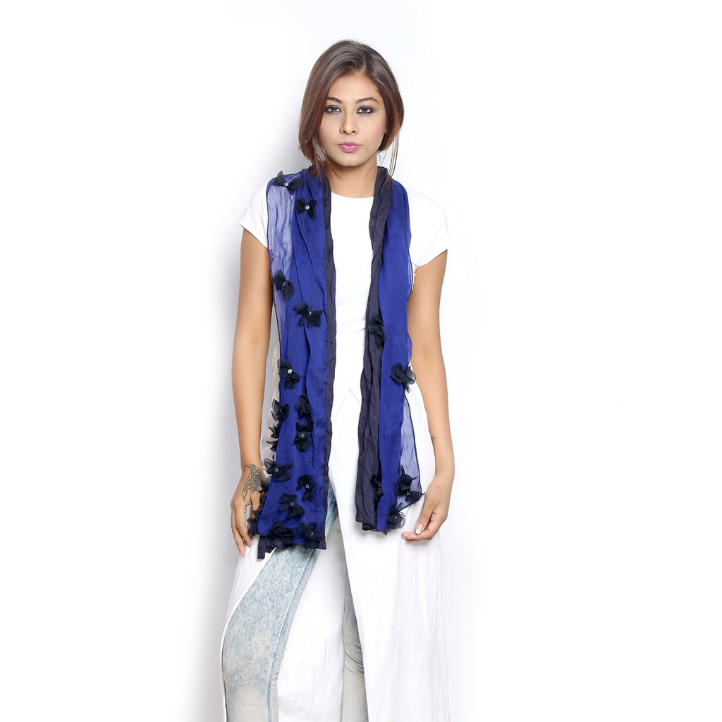 Coral Scarf blue