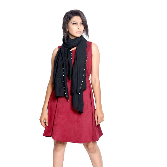 Black scarf and stoles