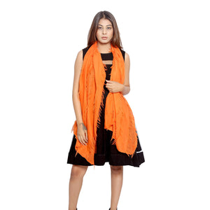 Frayed Orange Scarf
