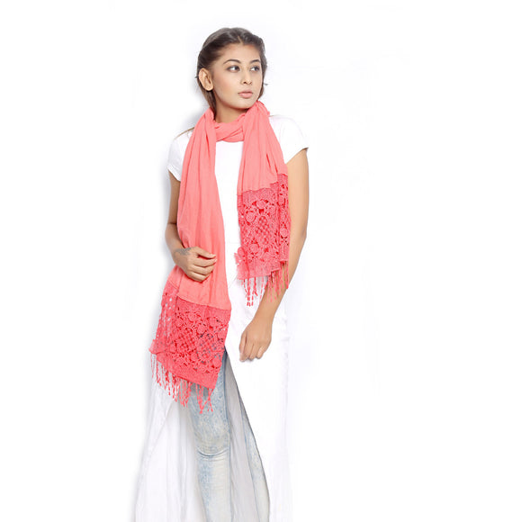 Coral Scarf pink
