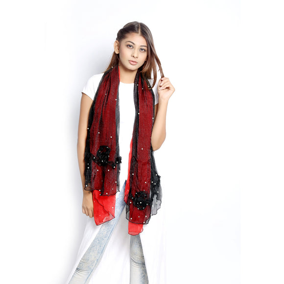 Black And Red Scarf