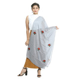 Grey Cotton Women's Stole