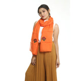Orange Cotton Women's Stole