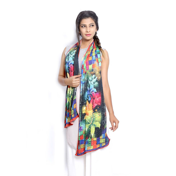 Grishti Women Graphic Print Scarf