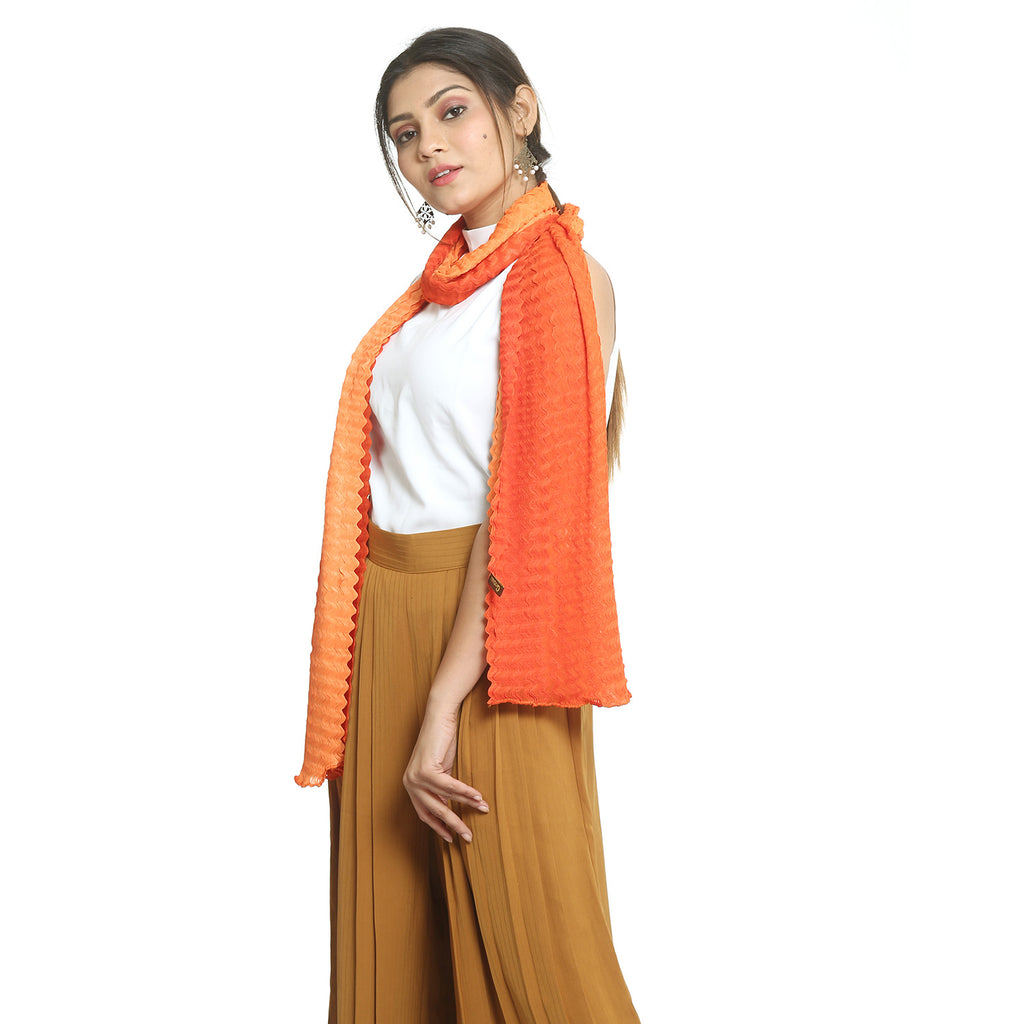 Orange Chiffon Stole