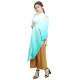 Light Blue Chiffon Women's Stole