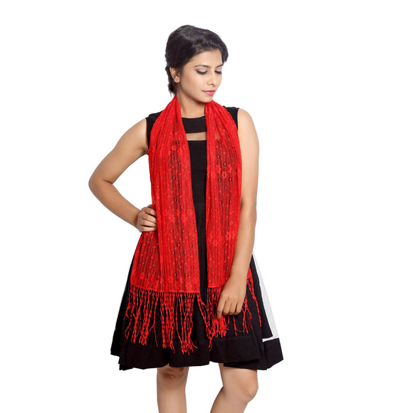 Red Lace Stole