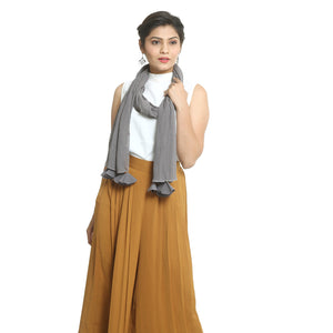 Grey Georgette Stole